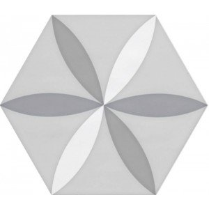 Hexagon-zeskant Vodevil Decor White 17