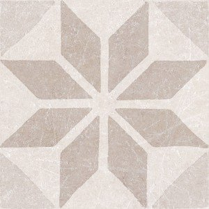 Materia Decor Star Ivory 20x20