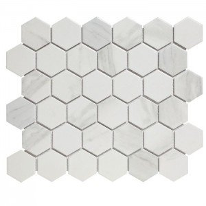 Mozaiek Barcelona Hexagon Carrara Wit 5