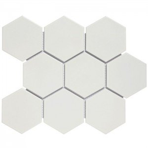 Mozaiek Barcelona Hexagon Wit Mat 9