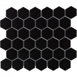 Mozaiek Barcelona Hexagon Zwart Mat 5
