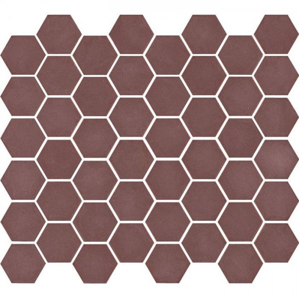 Mozaiek Valencia Hexagon Bordeaux 4