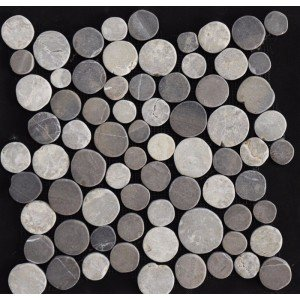 Mozaiek coins / munten light en dark grey