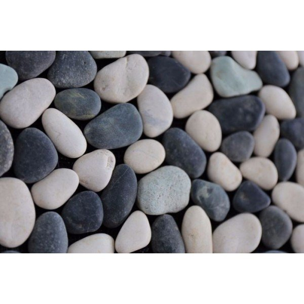 Mozaiek riverstone pebble grey/white/green