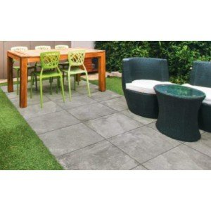 Terrastegel Loop Grey 60x60x2 rett