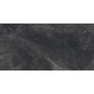 Vloertegel Marmer look Panther Black 60x120 rett